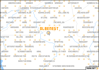 map of Albenedt
