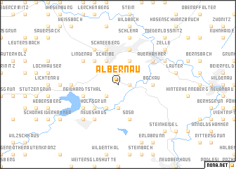 map of Albernau