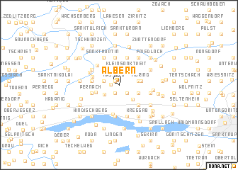 map of Albern