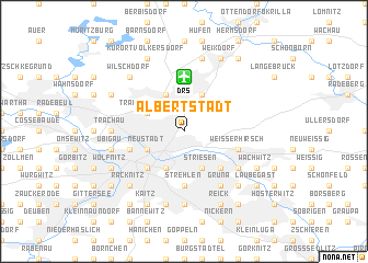 map of Albertstadt