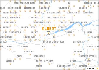 map of Albert