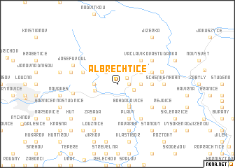 map of Albrechtice