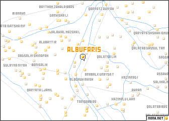 map of Ālbū Fāris