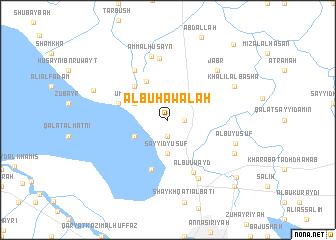 map of Ālbū Ḩawālah