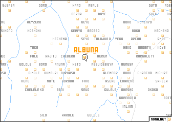 map of Ālbuna