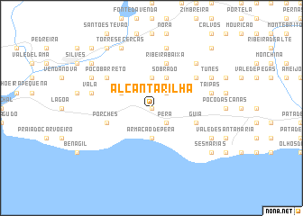 map of Alcantarilha