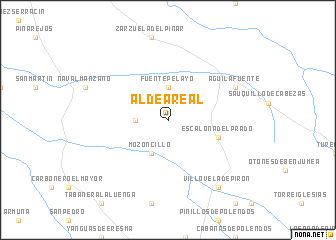 map of Aldea Real