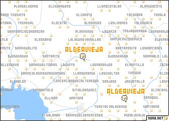 map of Aldea Vieja