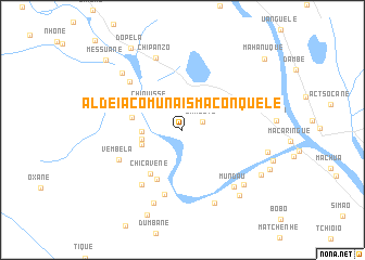 map of Aldeia Comunais Maconquele