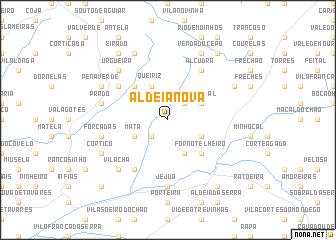 map of Aldeia Nova