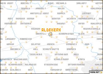 map of Aldekerk