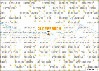 map of Aldersbach