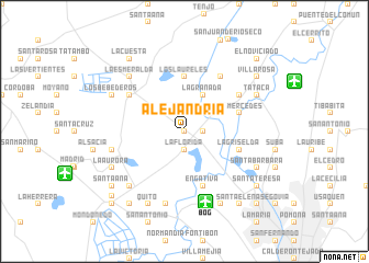 map of Alejandría