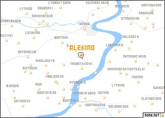 map of Alëkino