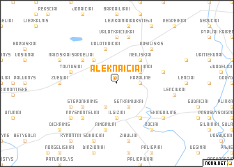 map of Aleknaičiai