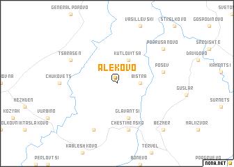 map of Alekovo
