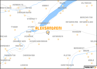 map of Aleksandreni