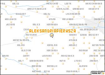 map of Aleksandria Pierwsza