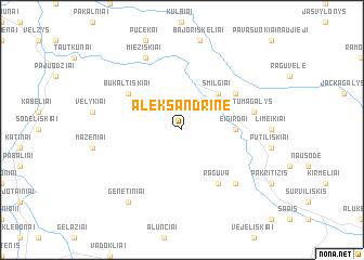 map of Aleksandrinė