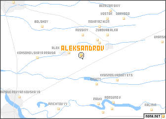 map of Aleksandrov