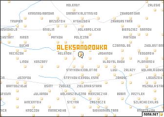 map of Aleksandrówka