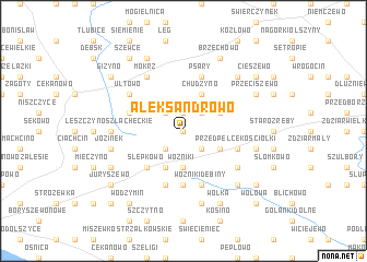 map of Aleksandrowo