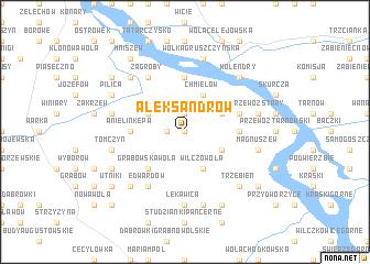 map of Aleksandrów
