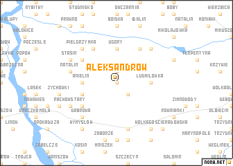 map of Aleksandrów