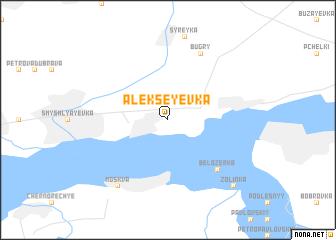 map of Alekseyevka