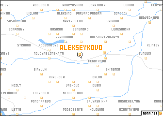 map of Alekseykovo