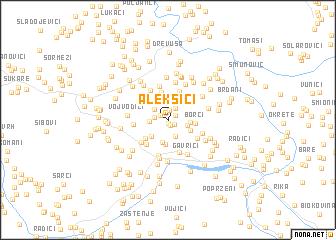 map of Aleksići
