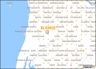 map of Além Rio