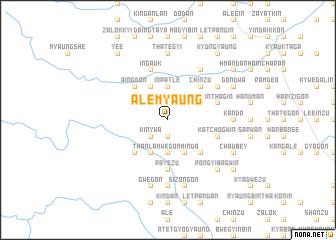 map of Alèmyaung