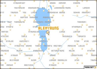 map of Alemyaung