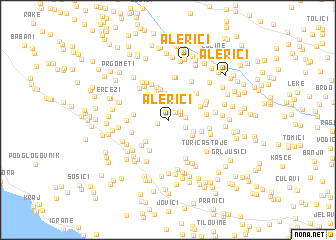 map of Alerići