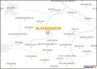 map of Aleshkovichi