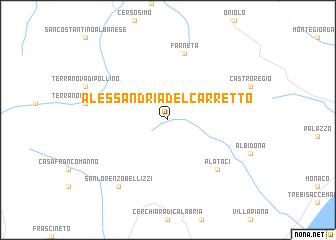 Alessandria del Carretto Italy map nonanet
