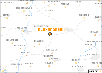 map of Alexăndreni