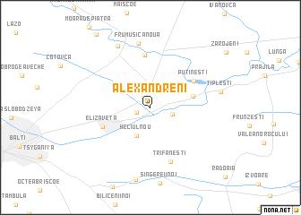 map of Alexăndreni