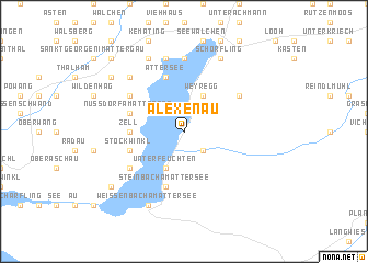 map of Alexenau