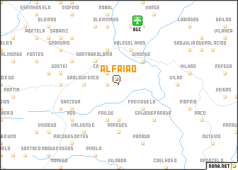 map of Alfaião
