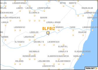 map of Alfaíz