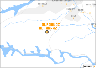 map of Al Fawwāz