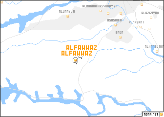map of Al Fawwāz