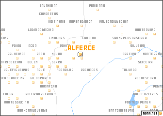 map of Alferce
