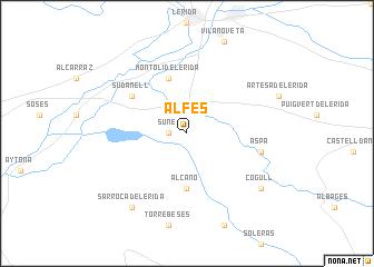 map of Alfés