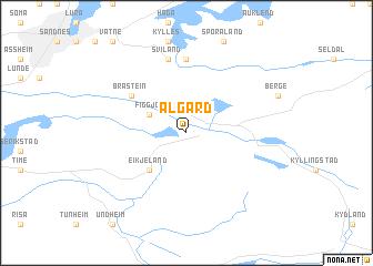 map of Ålgård