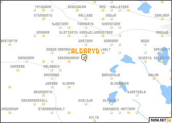 map of Älgaryd