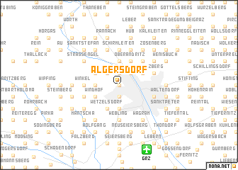 map of Algersdorf