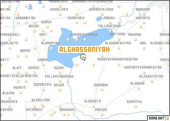map of Al Ghassānīyah